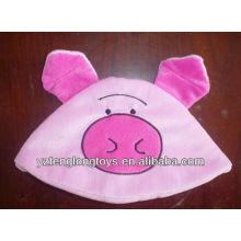 Alta calidad lindo y precioso cerdo cara felpa bebé sombrero