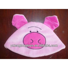 high quality cute and lovely pig face plush baby hat