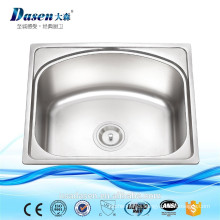 Dasen on sale 510*430*190 single D shape stainless steel mini triangle sink vanity good prices portable PVD sink