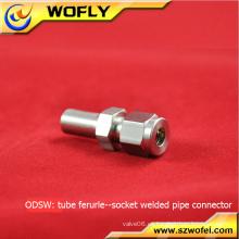 Presión de trabajo media soldadura de gas de compresión de 500psi en conectores de zócalo