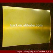 Folha de latão CuZn35 / placa de latão