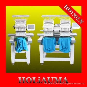Machine à broder Holiauma haute vitesse industrielle tubulaire 2 tête