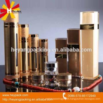 Golden Luxury cosmetic jars and bottles