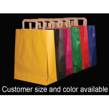 Shopping bag in carta kraft a colori