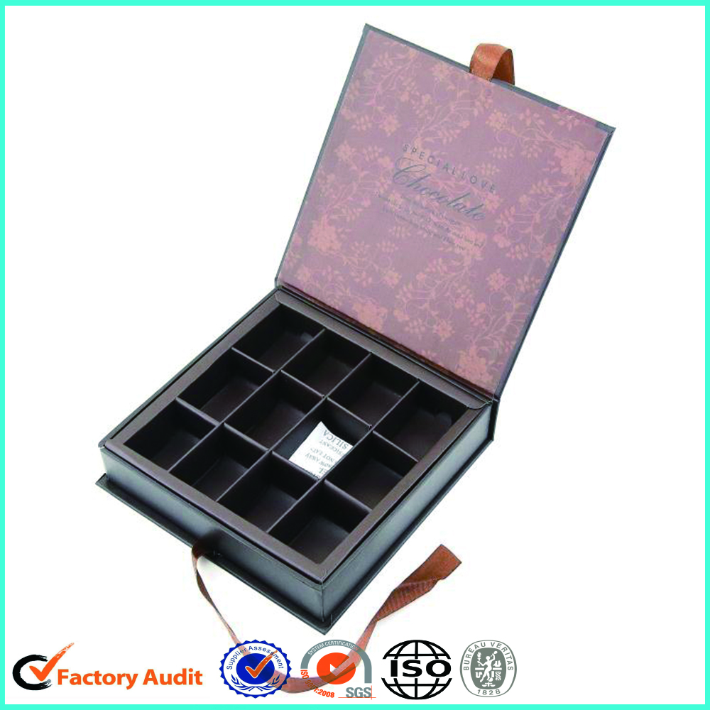 Book Shape Black Chocolate Cavity Box