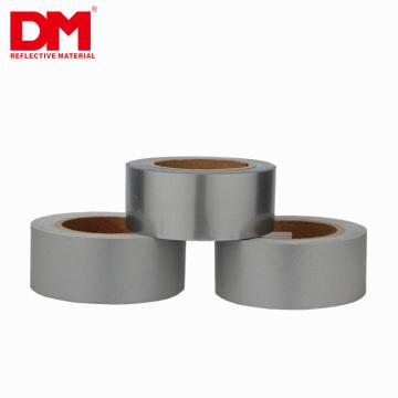 Élastique argent réfléchissant ruban fer sur tissu transfert de chaleur vinyle film bricolage (50 mm x 5 m)