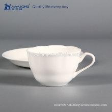 Entwerfen Sie Ihre eigene keramische Kaffeetasse, persönliche Entwurfskaffeetasse und Untertasse
