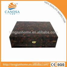 CPS-CH Eco amigable pluma Shell Cigar Box con completamente cubierta