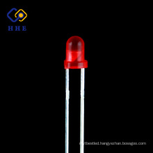 High quality 3mm round dip LED red diffused lamp led