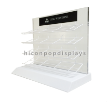 Custom Quarry Tile Merchandising Equipment Retail Showroom Countertop Metal Marble Display Shelf