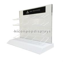 Custom Quarry Tile Merchandising Equipment Retail Showroom Countertop Metal Marble Display Shelf