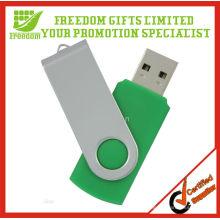 Meilleure vente Top qualité Logo imprimé 2 Go pivotant USB Flash Drive