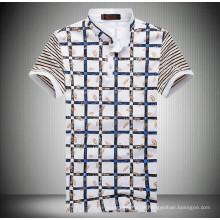 15PKPT16 2015 Casual Urlaub gedruckt Check-Polo-T-Shirt