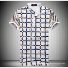 15PKPT16 2015 casual holiday printed check polo t shirt