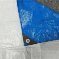 Blaue weiße Planen-LKW-Abdeckung