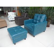 Sofá de salón con sofá moderno de cuero genuino (456)