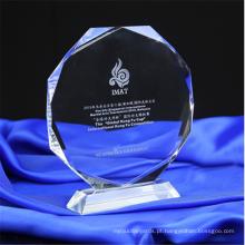 Troféu de Prêmios 3D Crystal Engraved Design