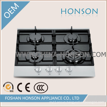 Four Burners Tempered Glass Gas Hob Panel for Kitchen Appliance