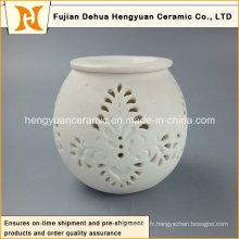 Nouveau design Ceramic Tealight Brûleur à l'huile / Grossiste en céramique d'huile diffuseur