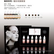 Kit de color de tatuaje de cejas para maquillaje semi permanente de Plant Essence