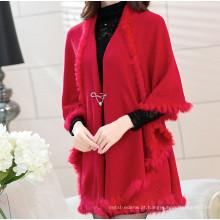 15PKCAS09 2015 inverno na moda feminina quente camisola 100% lã cardigan