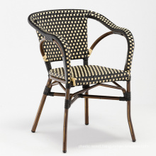 DECOR wholesale aluminium frame in bamboo looking surface rattan outdoor chair