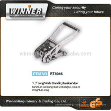 "2015 new product 1.5"" Long Wide Handle stainless steel overcenter buckle"