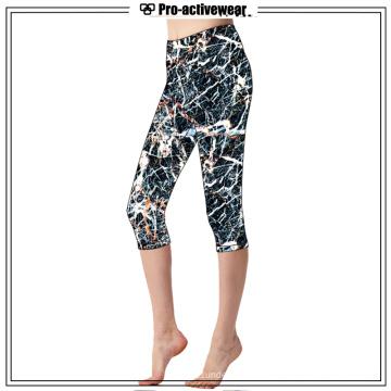 Calças personalizadas de Capri de ioga de alta qualidade personalizadas
