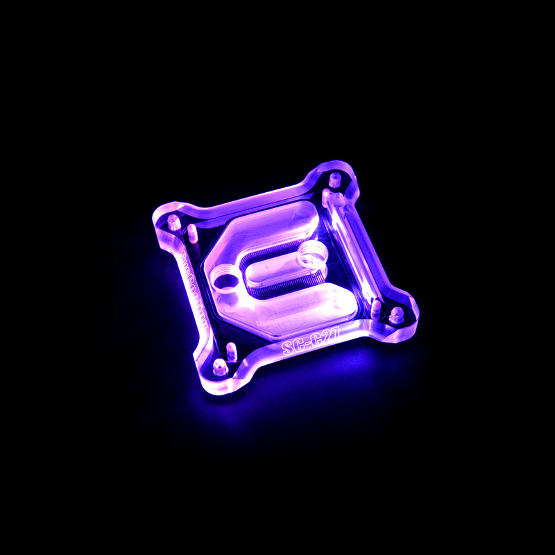 rgb light cpu acrylic cover copper cpu block