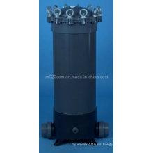 Cubierta del filtro del cartucho del PVC para el tratamiento de agua