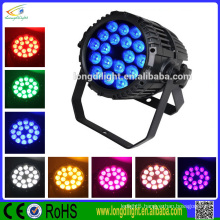 DMX512 led stage par light 18pcs 10W RGBW 4in1 outdoor led par light