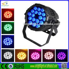 A alta qualidade 18 * 10 4in1 IP 65 luzes impermeáveis do par pode luzes
