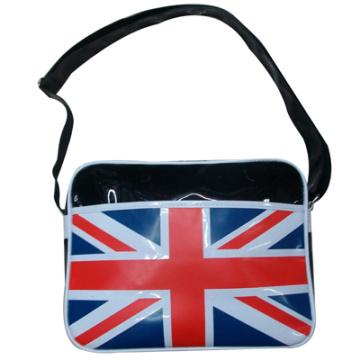Union Jack estilo imprimir mochila bandolera cuero brillante
