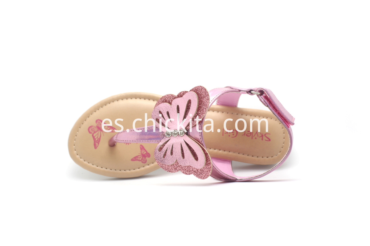 Children Flat Fashion Sandals with butterfly