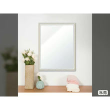 Simple silver mirror with frame bathroom mirror