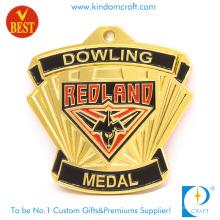 Fornecimento de alta qualidade design especial medalha lembrança redland 3d em liga de zinco