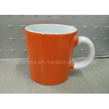 14oz Kaffeetasse, zweifarbiger Keramikbecher