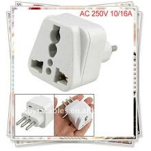 Itália para Universal Travel Plug Adaptador de corrente AC 250V (italy plug adapter)