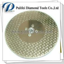 Lame de revêtement de scie électrodéposée pour la coupe de marbre Scie à diamant électrolytique