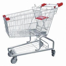 Shopping Trolley with Lacquer Finish for Supermarkets, Lock Set Available