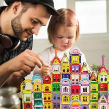 DIY juguetes inteligentes pegan bloques madera montaje