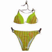 Bikini set/swimwear/swimsuit, various printings and embroidery are available