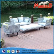 Muebles de sofá de cuerda al aire libre