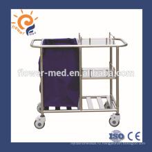 Сертификат ISO ISO нержавеющая сталь больничная тележка-дистрибьютор