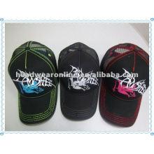 Chapéus do camionista e tampões da malha para o verão