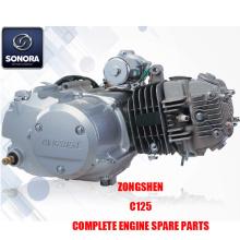 Zongshen C125 Πλήρη ανταλλακτικά κινητήρα Γνήσια ανταλλακτικά