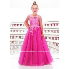 La nueva llegada appliqued la muchacha de flor por encargo moldeada del vestido del desfile viste CWFaf3353