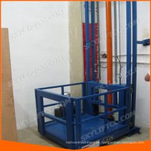 elevación de elevador de guía de carga de almacén
