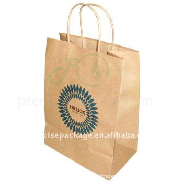 Saco de compras de papel Kraft marrom (PRP-004)