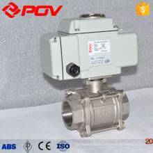 válvula de esfera motorizada do gás 1000wog 3pc braçadeira elétrica ac110v